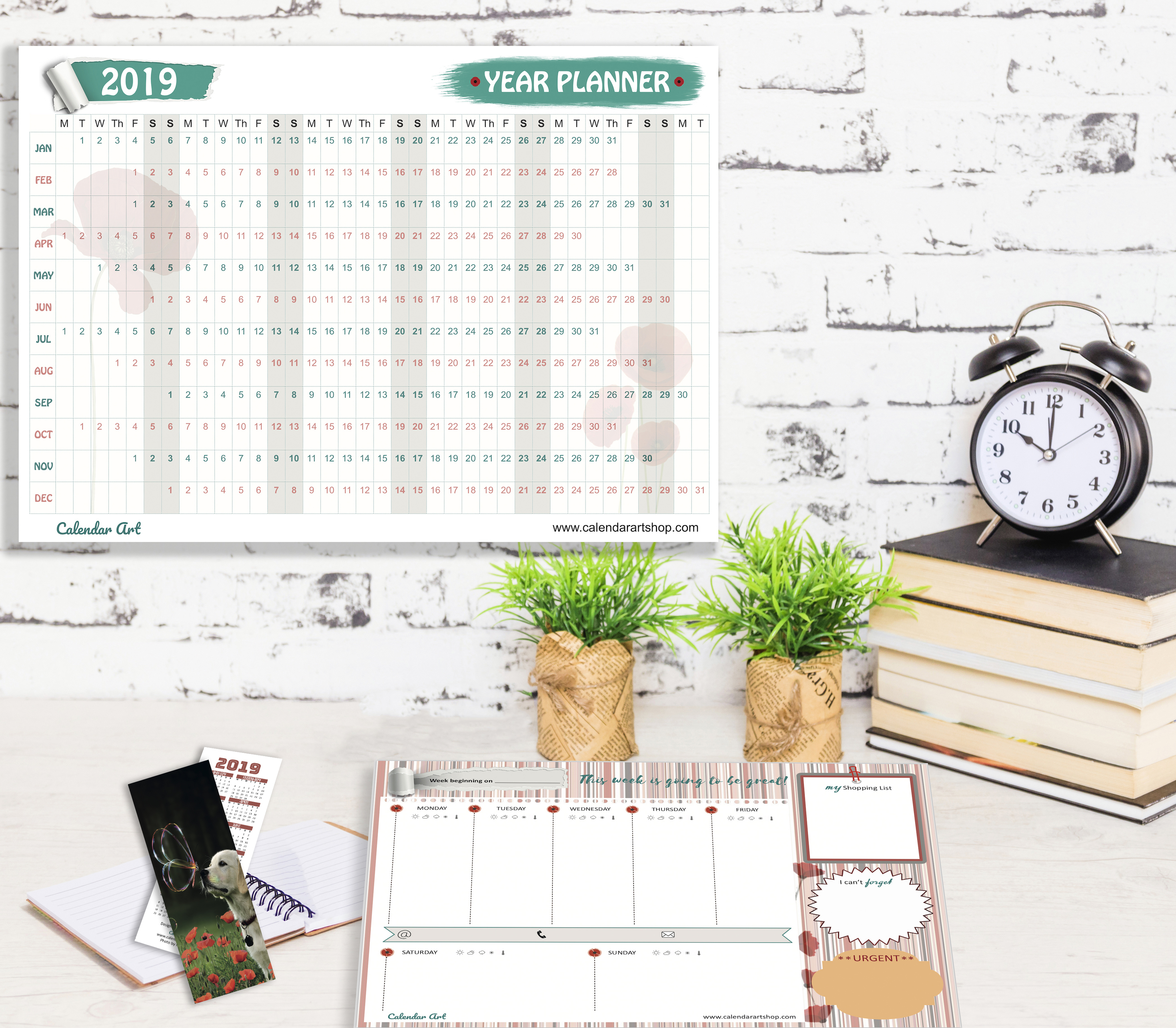 2019 Poppy Collection Planner Set